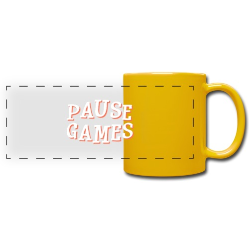 Pause Games Text - Full Color Panoramic Mug
