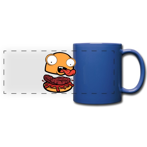 Crazy Burger - Taza panorámica de colores
