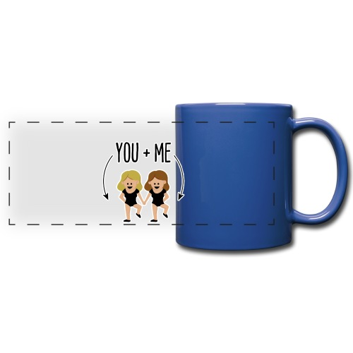 You and me - Taza panorámica de colores