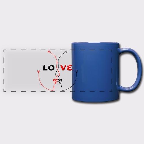 LOVE MINIMALISTIC LineART Valentinstaggeschenke - Panoramatasse farbig