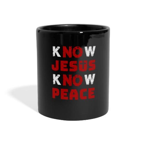 Know Jesus Know Peace (Classic) - Panoramatasse farbig