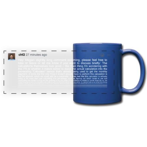 Verbose dark mug - Full Colour Panoramic Mug