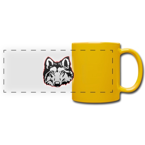 Wolfie (Red) - Full Color Panoramic Mug