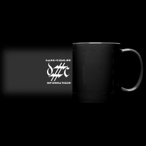Dark-Code Gothic Logo - Mug panoramique uni