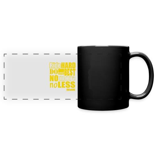 ridehard yellow - Full Colour Panoramic Mug