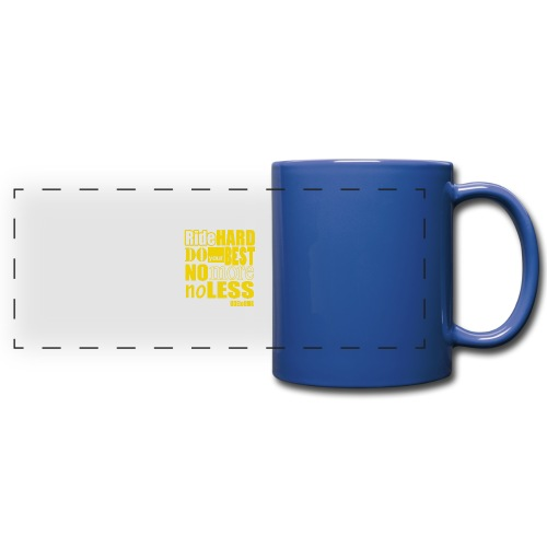 ridehard yellow - Full Colour Panoramic Mug