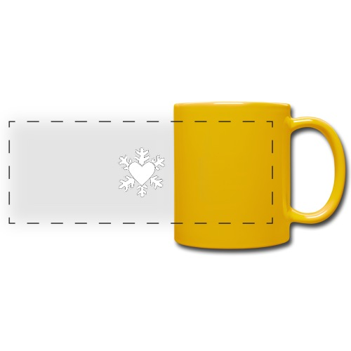 Flocon coeur 3D - Mug panoramique uni