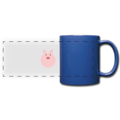 Schweinchen Fred - Panoramatasse farbig