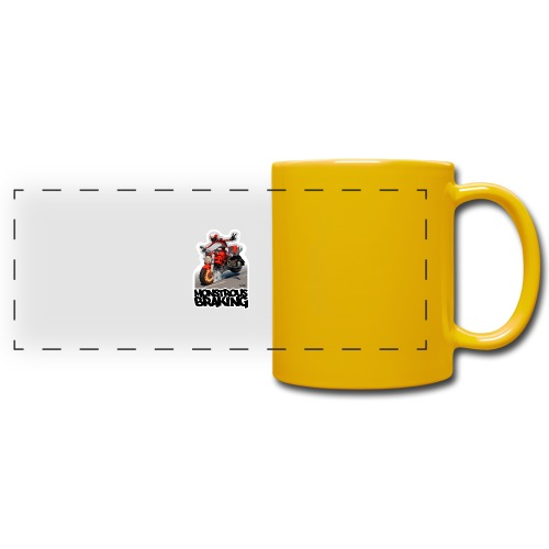 Ducati Monster, a motorcycle stoppie. - Taza panorámica de colores