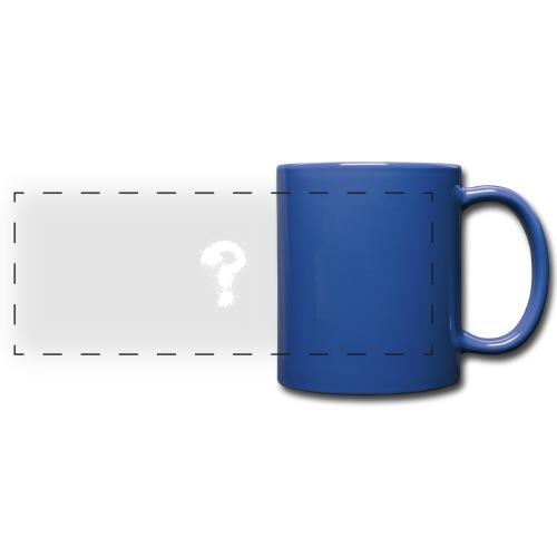 Fragezeichen - Panoramatasse farbig