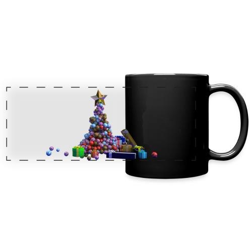 Arbre de Noel a boule avec cadeaux - Mug panoramique uni