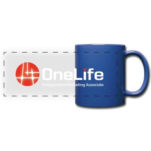 onelife ima logo dark bac - Full Colour Panoramic Mug
