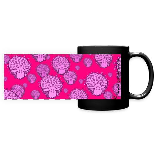 Virus Sheep mug (fluor pink edition) - Taza panorámica de colores
