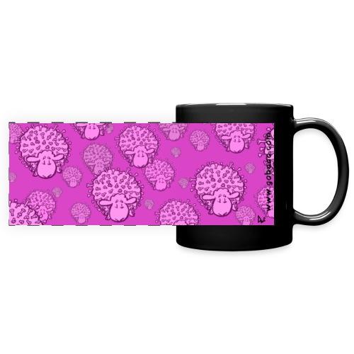 Virus Sheep Mug (rosa Ausgabe) - Panoramatasse farbig