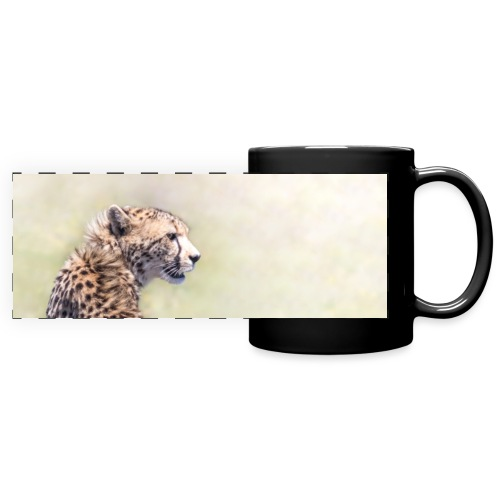 Geschenkidee Gepard - Panoramatasse farbig