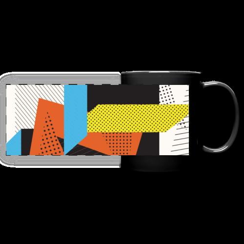 Vintage shapes abstract - Full Color Panoramic Mug