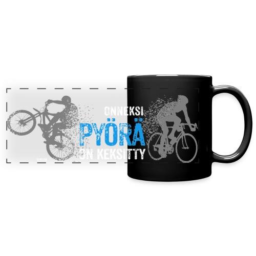 Onneksi pyörä on keksitty - Road bike + MTB - Panoraamamuki värillinen