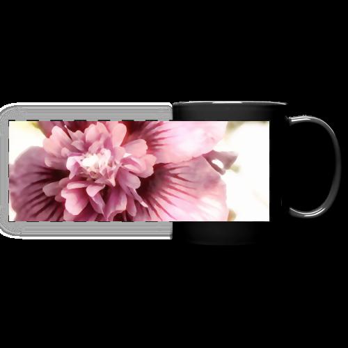 Pink flower watercolor minimalism - Full Color Panoramic Mug