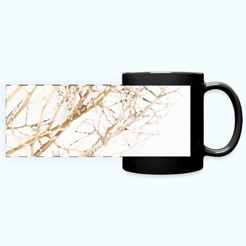 Grass beige minimalism watercolor nature - Full Color Panoramic Mug