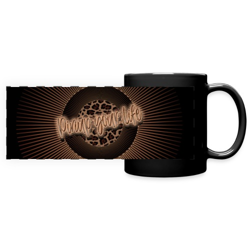 Pinup your life - leopard coffee - Full Colour Panoramic Mug