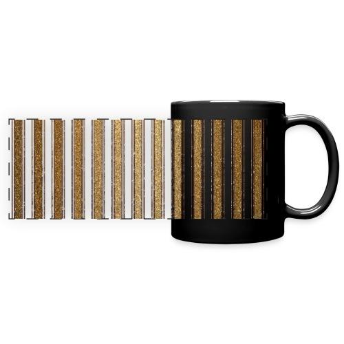 Gold Glitzer Streifen Muster Vintage Burlesque - Full Colour Panoramic Mug