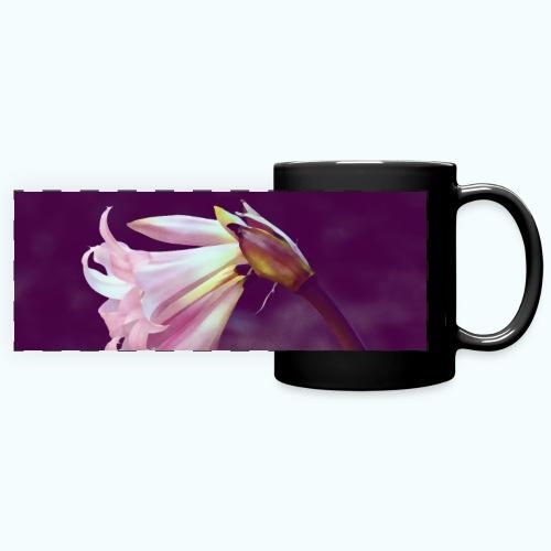 Flower At Night Watercolor Minimalism - Full Color Panoramic Mug