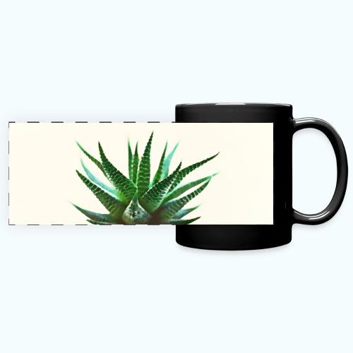 Simple plant minimalism watercolor - Full Color Panoramic Mug