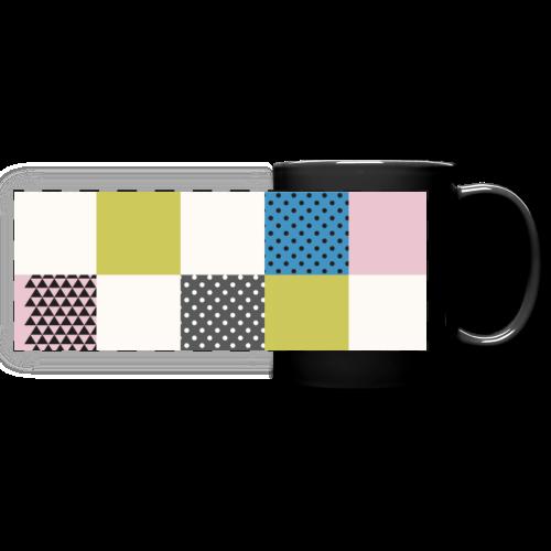 Abstract art squares - Full Color Panoramic Mug