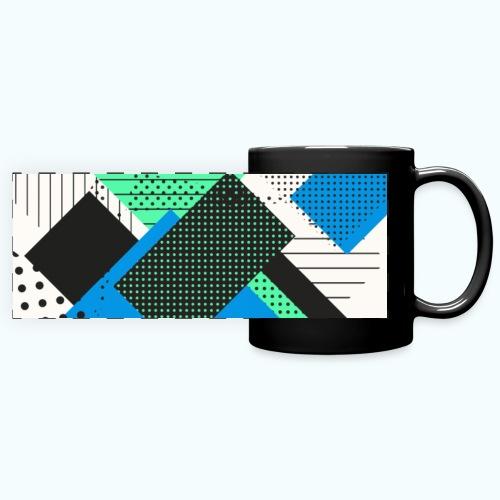 Abstract rectangles pastel - Full Color Panoramic Mug