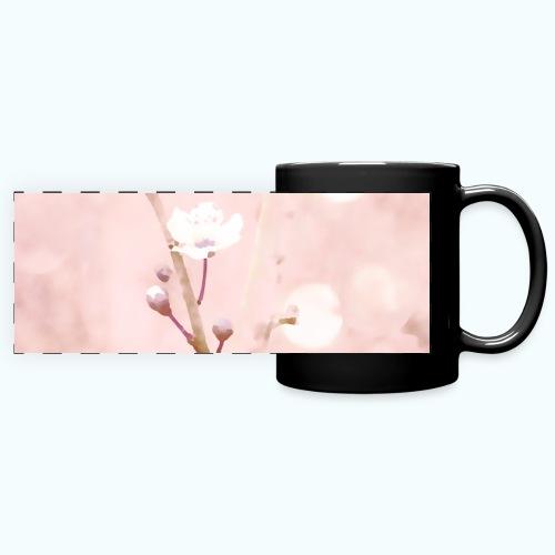 Cherry tree watercolor minimalism - Full Color Panoramic Mug