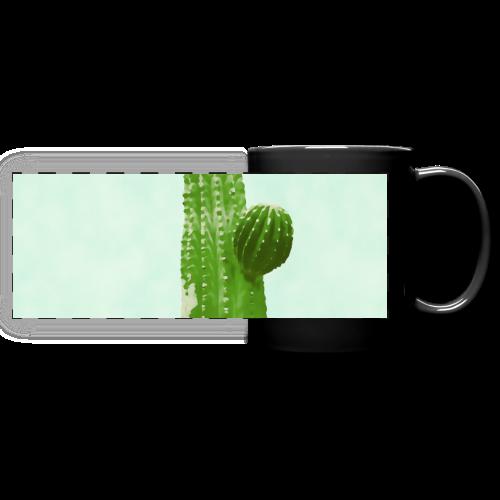 Cactus minimalism watercolor - Full Color Panoramic Mug
