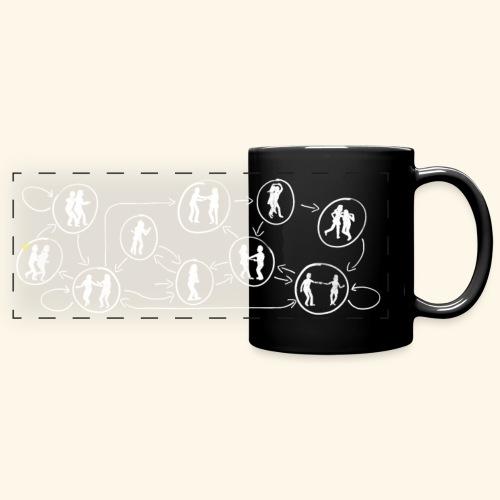 Lindy Hop DFA (White) - Full Colour Panoramic Mug