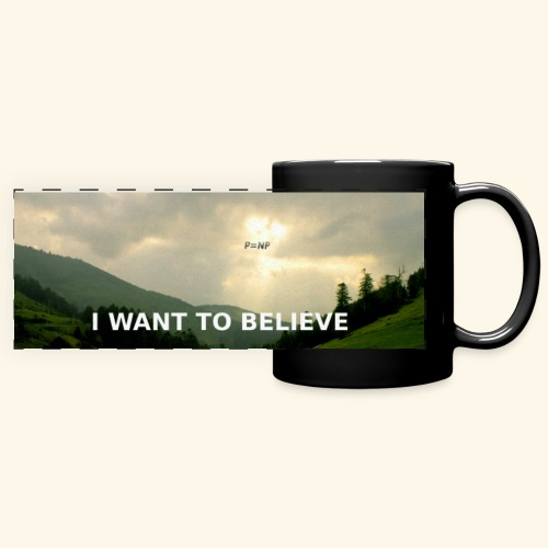 I WANT TO BELIEVE - Full Color Panoramic Mug