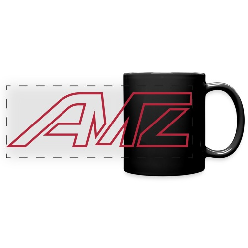 Logo AMZ rot schrift - Panoramatasse farbig