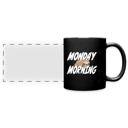 Montag Morgen Müdigkeit Wochenende ist vorbei - Panoramatasse farbig