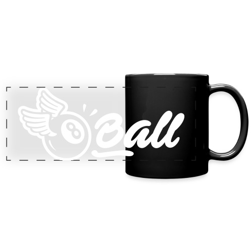 8ball-horizontal-blanc - Mug panoramique uni