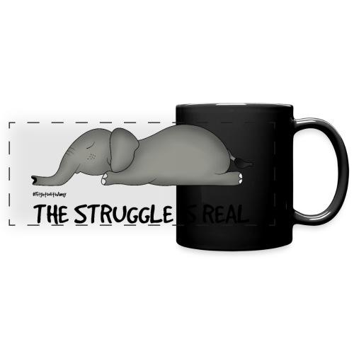 Amy's 'Struggle' design (black txt) - Full Colour Panoramic Mug