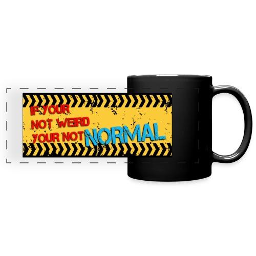 WARNING NORMAL MUG DES 1 - Full Colour Panoramic Mug