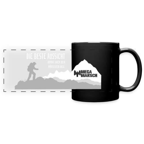 Megamarsch Die beste Aussicht (weiß) - Panoramatasse farbig