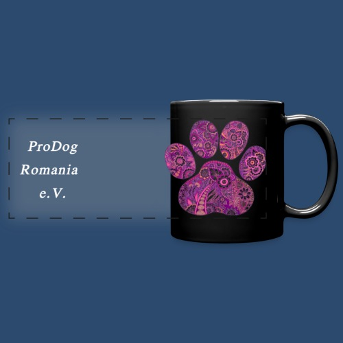 Panoramatasse dog paw prints 8 created by Jill - Panoramatasse farbig
