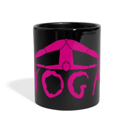 yoga yogi viola spiritualità amore namaste sport - Tazza colorata con vista