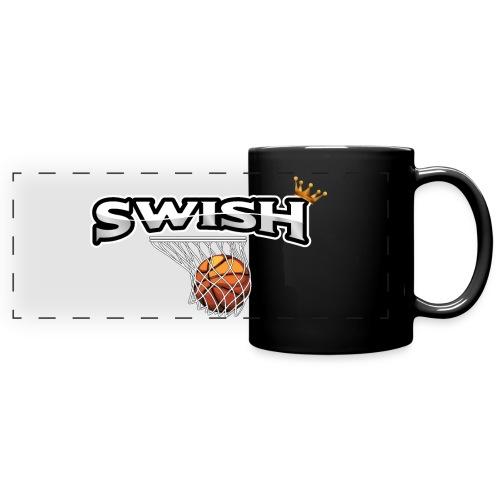 The king of swish - For basketball players - Full Colour Panoramic Mug