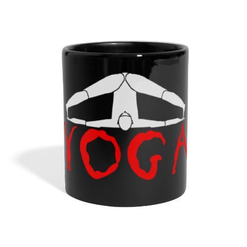 yoga yogi sport bianco namaste amore pace hippie - Tazza colorata con vista