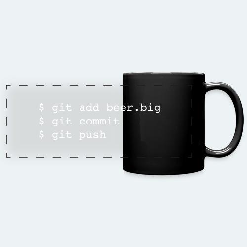 Bier Git Befehle Geschenk für Informatiker - Panoramatasse farbig