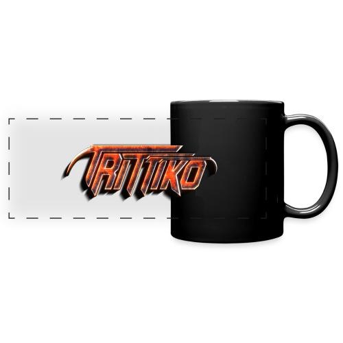 Trittiko Logo Rot 3D - Panoramatasse farbig