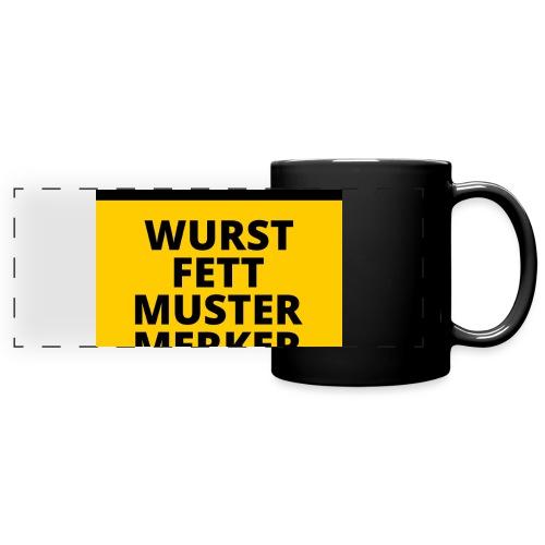 Achtung - Wurstfett! - Taza panorámica de colores