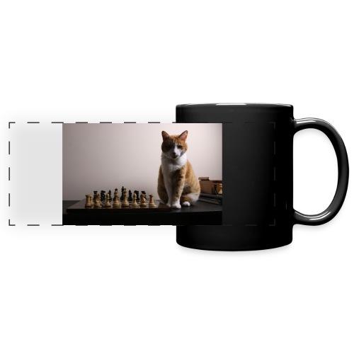 Charlie and his chess board - Full Colour Panoramic Mug