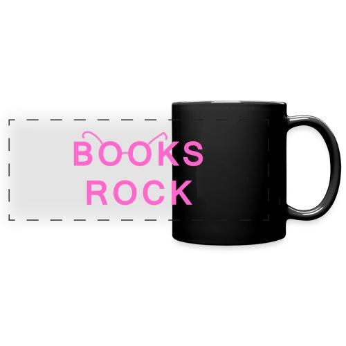 Books Rock Pink - Full Color Panoramic Mug