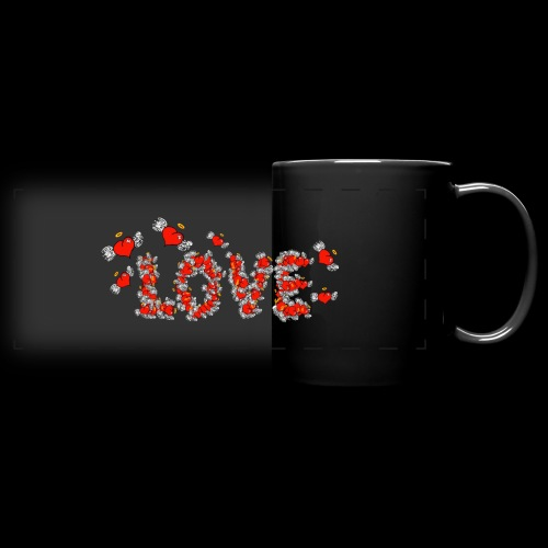 Flying Hearts LOVE - Full Color Panoramic Mug