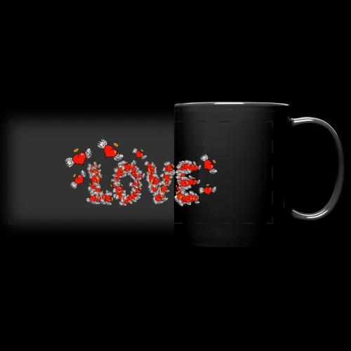 Flying Hearts LOVE - Panoramakrus, farvet